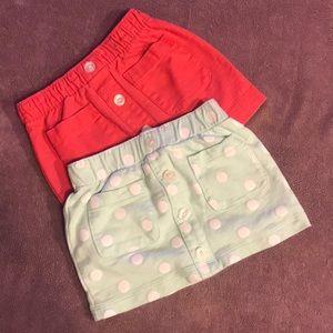 Bundle of 2 carters skirts